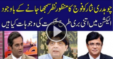 What are the reasons for the defeat of Ch.Nisar in election 2018 -Geo News TV