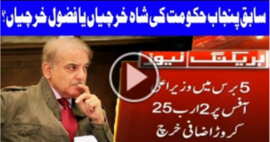 Ex Chief Minister Punjab Shehbaz Sharif's Excessive Use of Money on CM Office