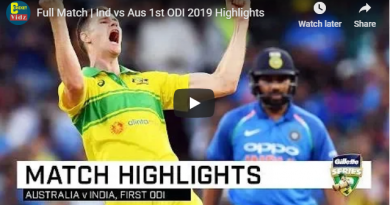 Full Match | Ind vs Aus 1st ODI 2019 Highlights