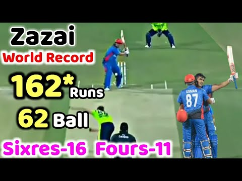 Hazratullah Zazai 162 Run Against Ireland-geo sports news live cricket-ICC cricket world cup– Live Cricket Streaming-Geo Sports