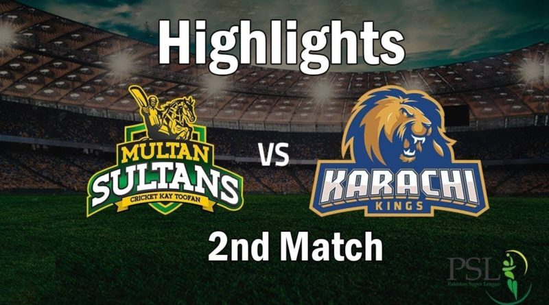 Karachi Kings Vs Multan Sultan Full Highlights|PSL 4 2019