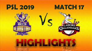 PSL 2019 Full Highlights - Match 17 - Lahore Qalandars vs Quetta Gladiators