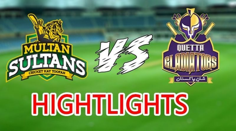 PSL 2019 Full Highlights - Match 8 - Multan Sultans vs Quetta Gladiators – Live Cricket Streaming-PSL 2019-MS vs Quetta
