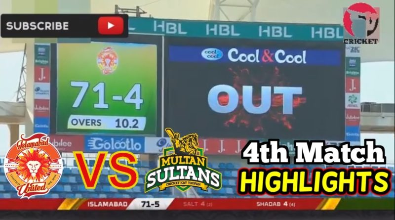PSL 4 Highlights: Islamabad United vs Multan Sultan Full Highlights