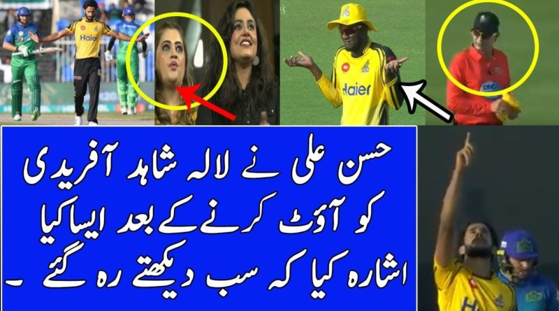 PZ vs MS psl 2019 Hassan Ali Special celebrations after getting Shahid Afridi Wicket-geo sports news live cricket- Live Cricket Streaming