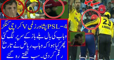 PSL 2019 KK vs PZ MATCH 9 Ball Hit Colin Ingram Head Wahab Riaz reaction was Precious