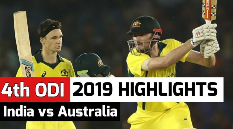 India vs Australia 4th ODI 2019 Full Match Highlights | 10 March 2019