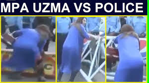 MPA Uzma VS Police Today During PPP Bilawal Bhutto Protest In Islamabad - Bilawal Bhutto Train March