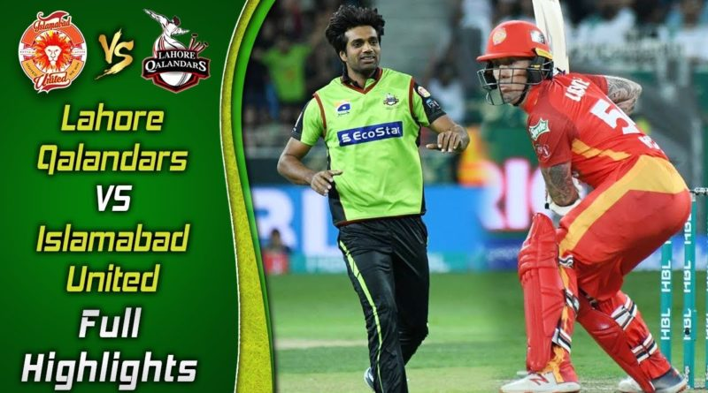 PSL 2019 Full Highlights-Match 27-Islamabad United vs Lahore Qalandars