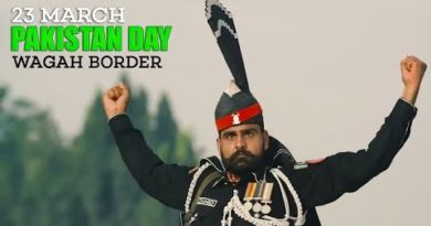 Wagah Border Flag Lowering Ceremony-23 March Pakistan Defence Day