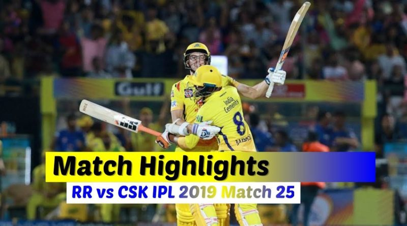IPL 2019 Match 25 RR vs CSK Full Screen Highlights | Rajasthan Royal vs Chennai Super Kings