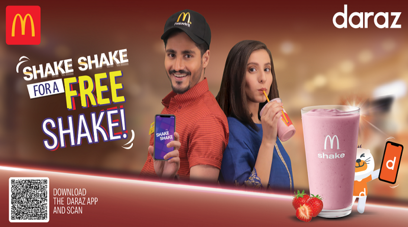 "Daraz and McDonald's Bring ""Shake for a Shake"" Offer-Geo Urdu News"