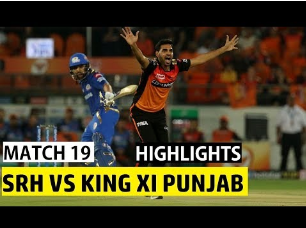 Match 19 ll Sunrisers Hyderabad Vs Mumbai Indians IPL 2019 Full Highlights l Srh vs kxip match 19