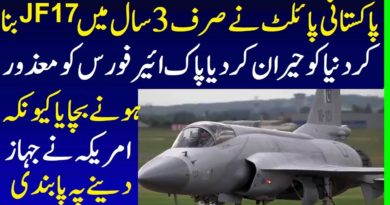How Pakistan Made JF-17 Jet in 3 Years Shortest Period While World Refused To Sale Jets to Pakistan
