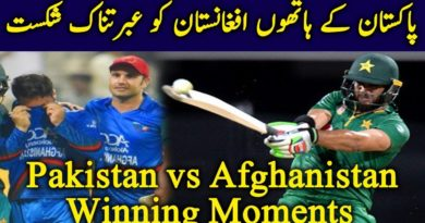 Pakistan Winning Moments against Afghanistan-CWC19