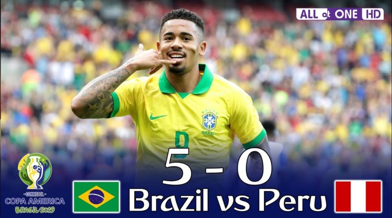 Brazil vs Peru(5-0)Highlights and goals-Copa America