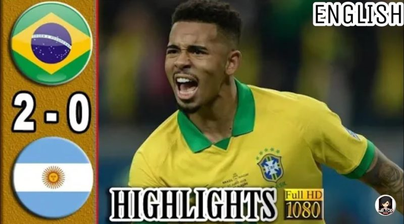Brazil vs argentina(2-0)Extended highlights English commentary||Semi final copa america