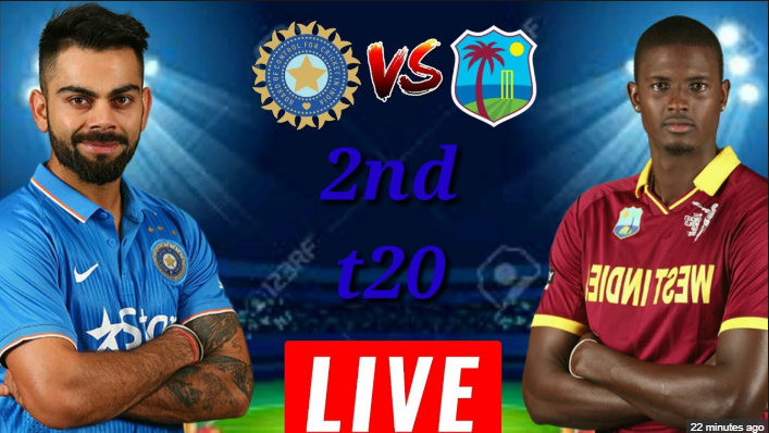 LIVE - IND vs WI 2nd T20 Live Score, India vs West Indies Live