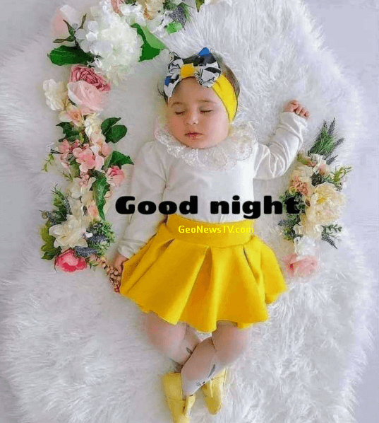 Good Night Images Download With Cute Baby