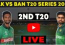 Pakistan vs Bangladesh T20 Live Match-Pak vs Ban 2nd T20 Live