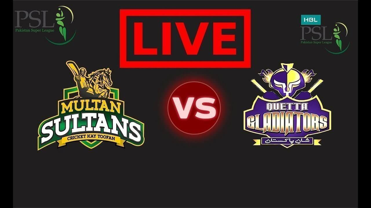 PTV Sports Live Streaming-Multan Sultan v Quetta Gladiators Live
