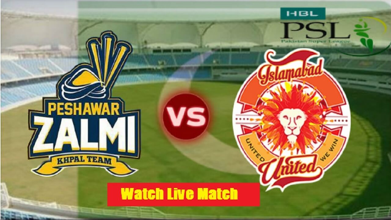 PTV Sports Live match PSL 2020-Islamabad United vs Peshawar Zalmi
