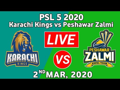 PTV Sports Live Match PSL 2020-Peshawar Zalmi vs Karachi Kings