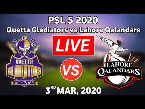 PTV Sports Match Live-PSL Live Score-PSL Today Match-QG vs LQ